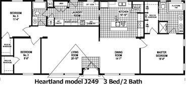 The Heartland Floor Plan | Model J249 | Cousin Gary Homes