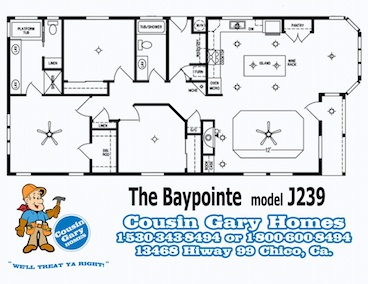 The Baypointe Floor Plan | Model J239 | Cousin Gary Homes