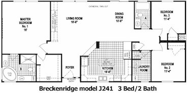 The Breckenridge Floor Plan | Model J241 | Cousin Gary Homes