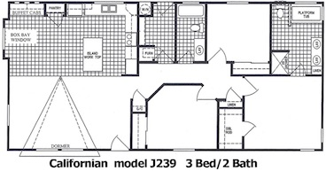 The Californian Floor Plan | Model J239 | Cousin Gary Homes