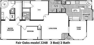 The Fair Oaks Floor Plan | Model J248 | Cousin Gary Homes