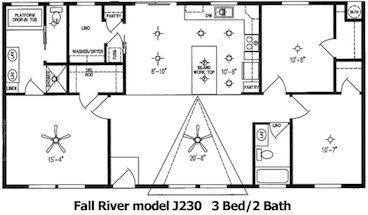 The Fall River Floor Plan | Model J230 | Cousin Gary Homes