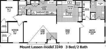 The Mount Lassen Floor Plan | Model J249 | Cousin Gary Homes