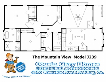 The Mountain View Floor Plan | Model J239 | Cousin Gary Homes