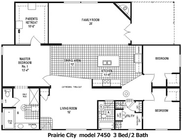 The Prairie City Floor Plan | Model 7450 | Cousin Gary Homes
