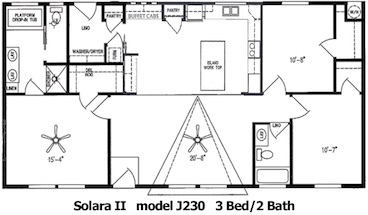 The Solara II Floor Plan | Model J230 | Cousin Gary Homes