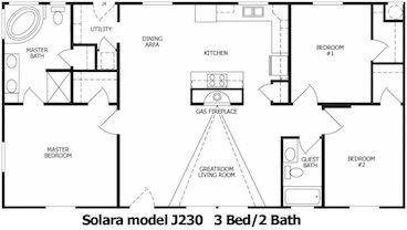 The Solara Floor Plan | Model J230 | Cousin Gary Homes
