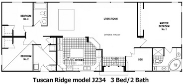 The Tuscan Ridge Floor Plan | Model J234 | Cousin Gary Homes