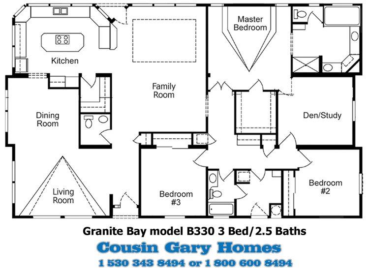 The Granite Bay Floor Plan | Model B330 | Cousin Gary Homes
