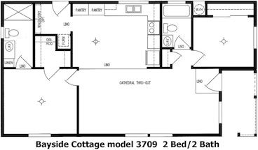 Bayside Cottage Floor Plan | Model 3709 | Cousin Gary Homes