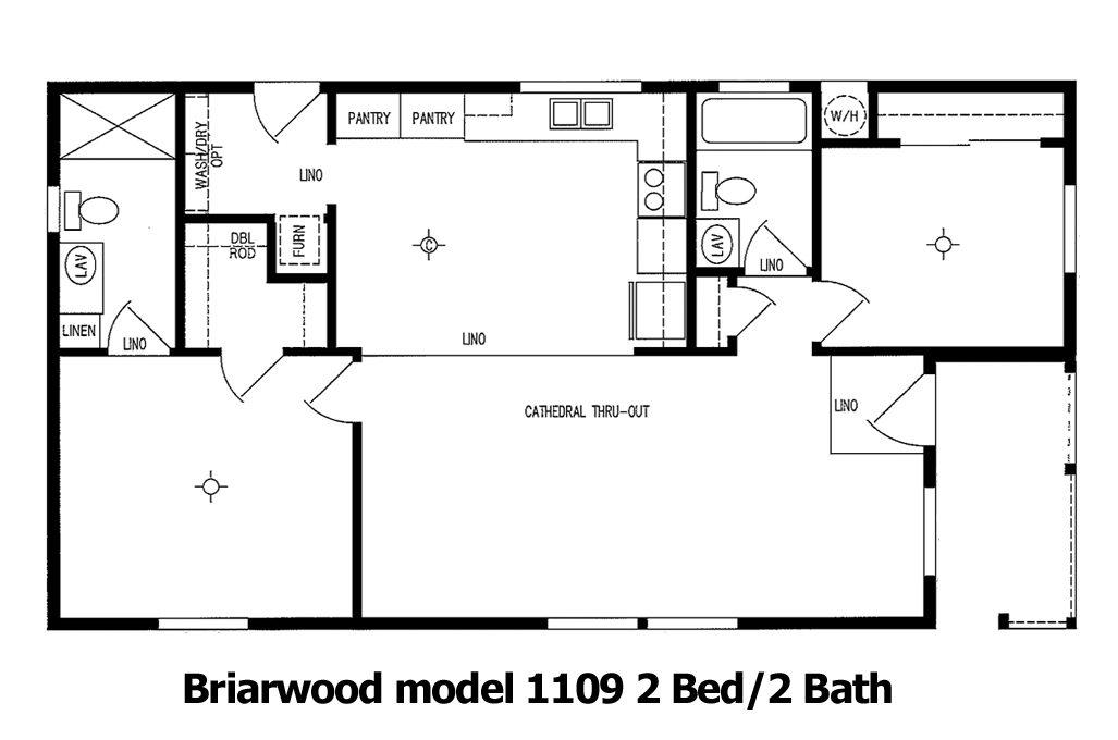 Briarside Cottage Floor Plan   Model 1109   Cousin Gary Homes