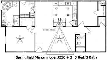 Springfield Manor Floor Plan | Model J230+2 | Cousin Gary Homes