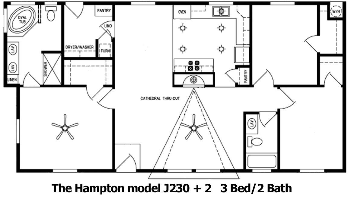 The Hampton Floor Plan | Model J230+2 | Cousin Gary Homes