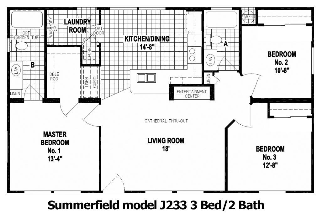 The Summerfield Floor Plan | Model J233 | Cousin Gary Homes
