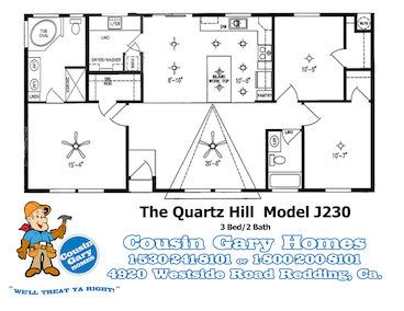 Quartz Hill Floor Plan | Model J230 | Cousin Gary Homes